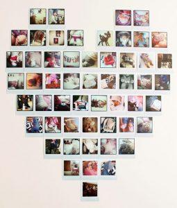 déco studio mur polaroid