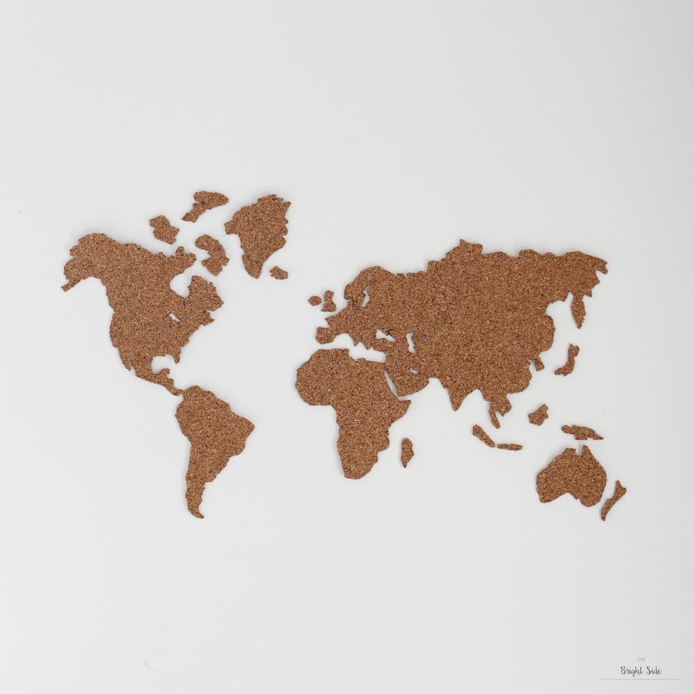 DIY déco : une mappemonde en liège